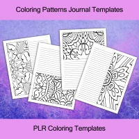Coloring Patterns Journal Templates