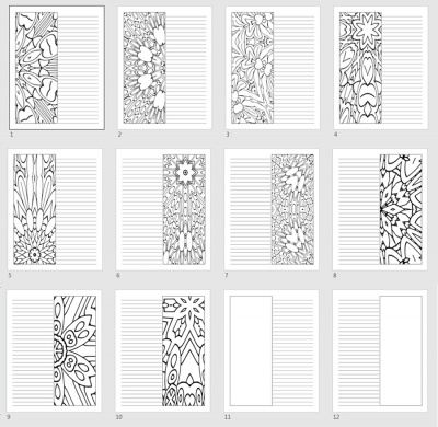 Coloring Patterns Journal Templates Pack 1