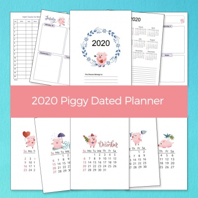 2020 Piggy Dated Planner