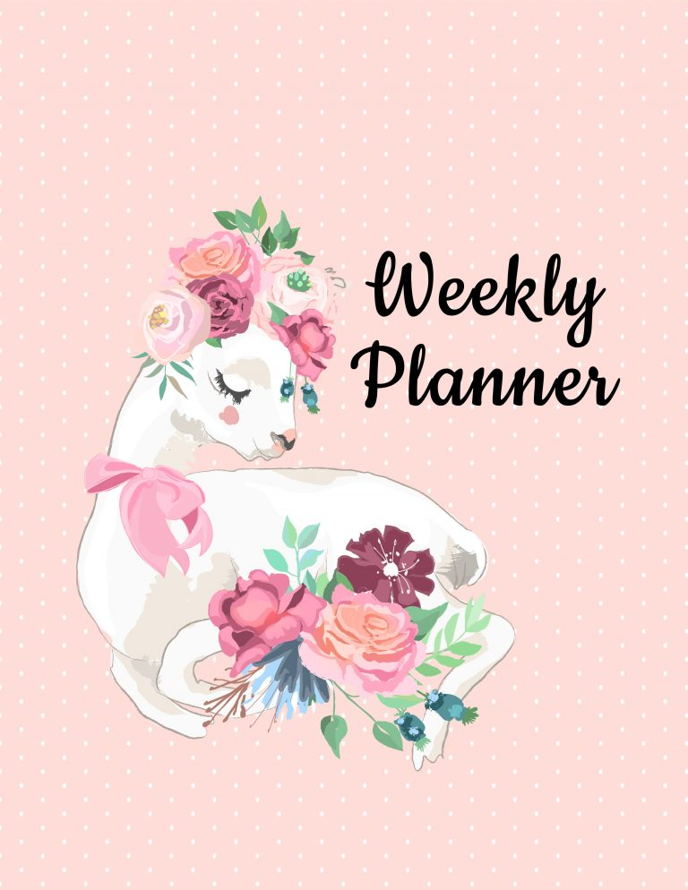 Weekly Planner Cover