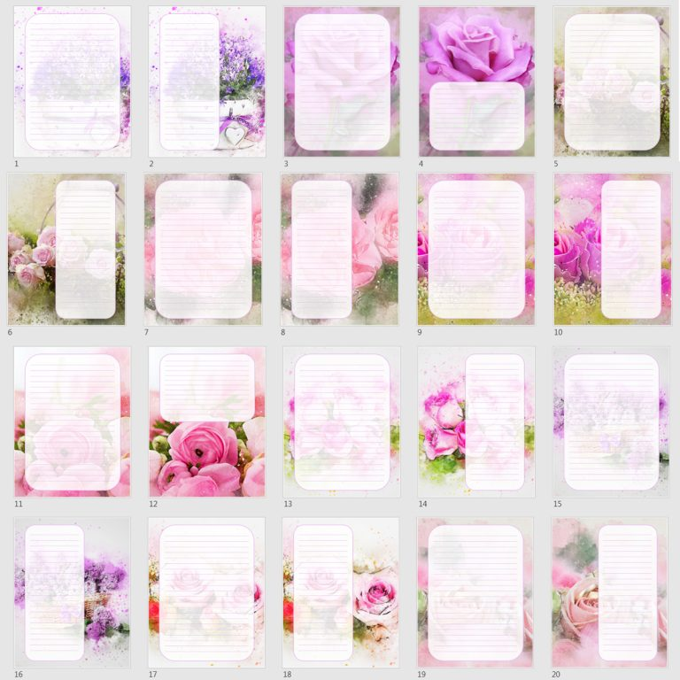 lavender rose note papers