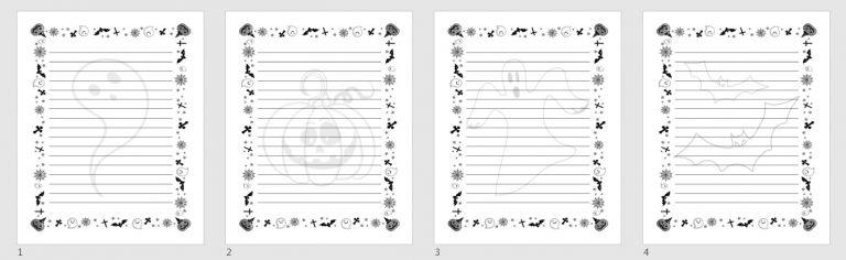 Halloween Journal Templates