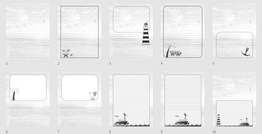 extra templates 1 grayscale
