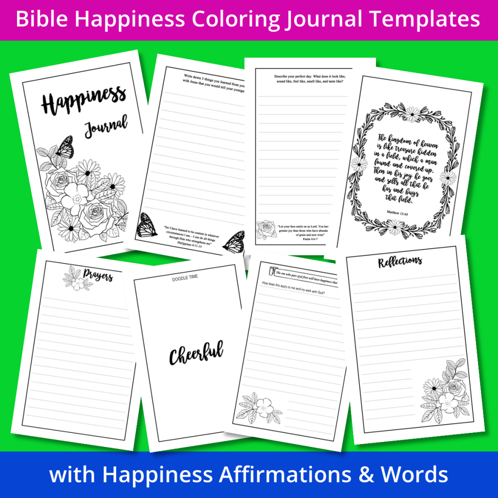 Bible Happiness Coloring Journal Templates