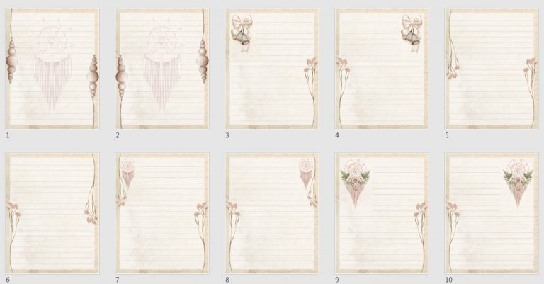 Vintage Boho Journal Papers Pack 2