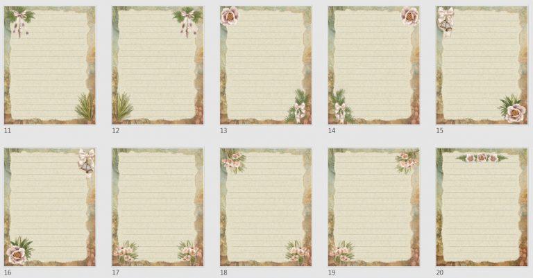 Vintage Boho Journal Papers Pack 4