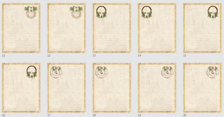 Vintage Boho Journal Papers Pack 3