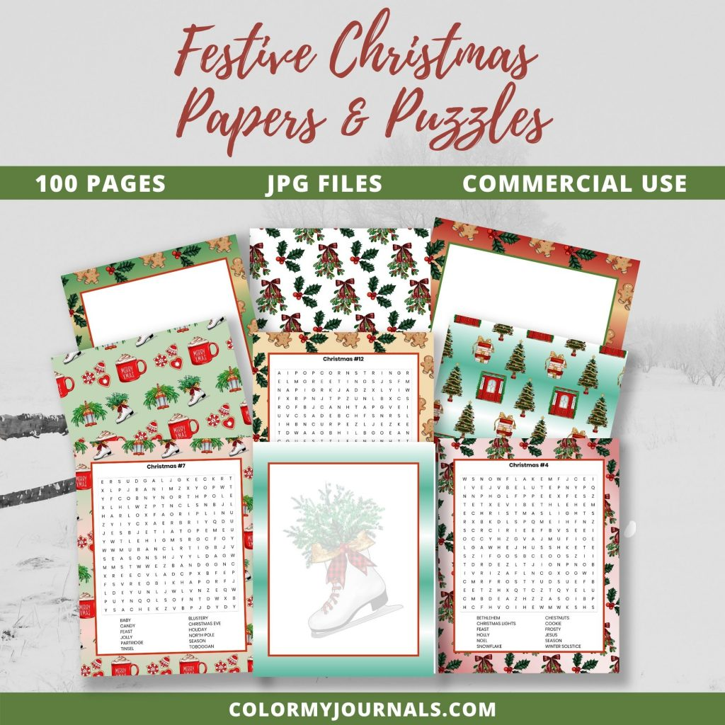 Festive Christmas Papers & Puzzles