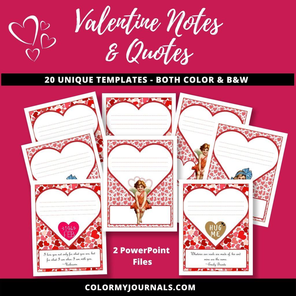 valentine notes & quotes