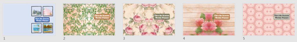 Thru the Seasons Weekly Planner Covers