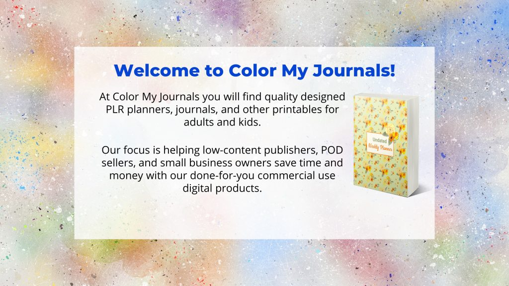 welcome to color my journals
