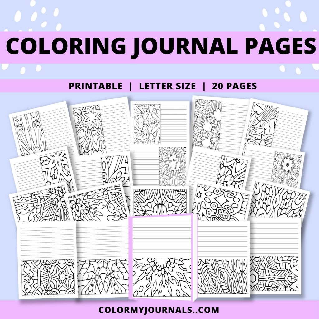 coloring journal pages
