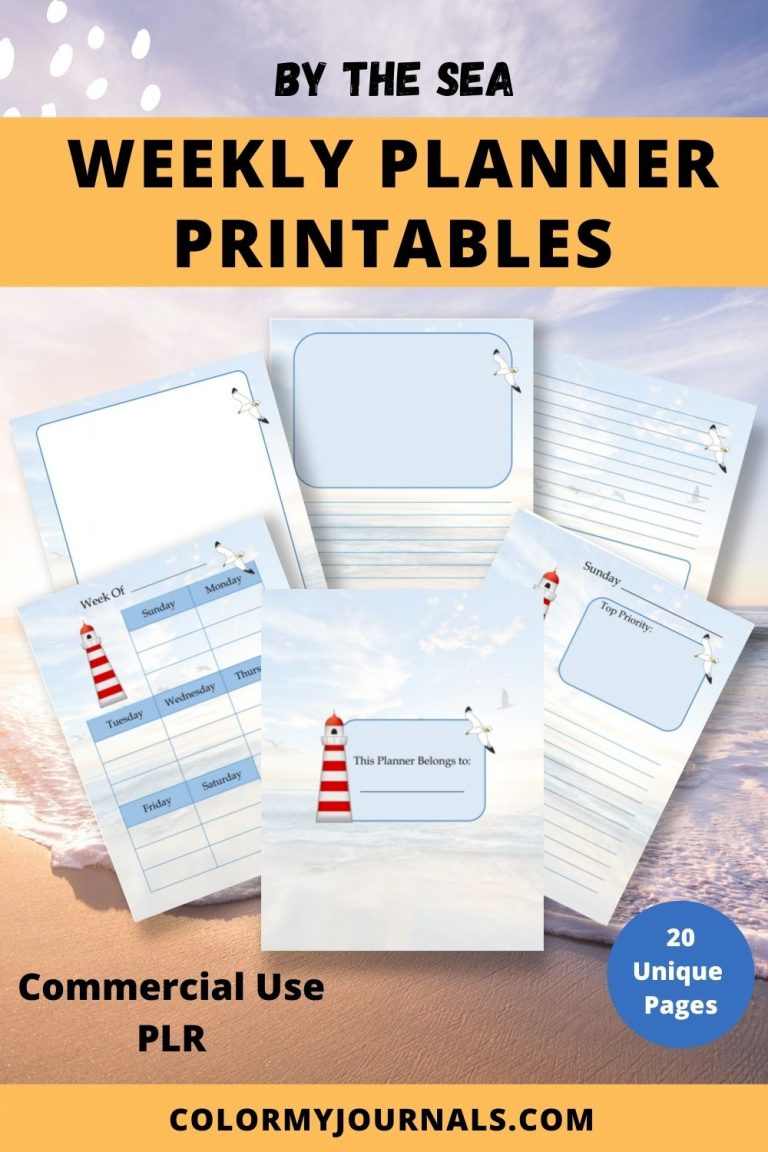 By the Sea Weekly Planner Printables