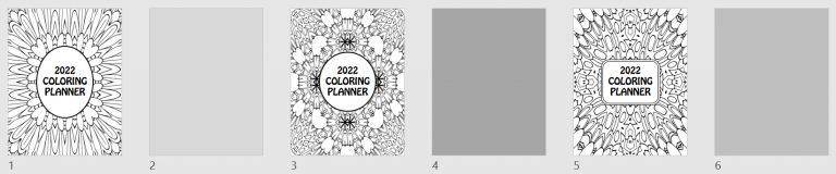 2022 Coloring Calendar Book Cover Templates Mockup