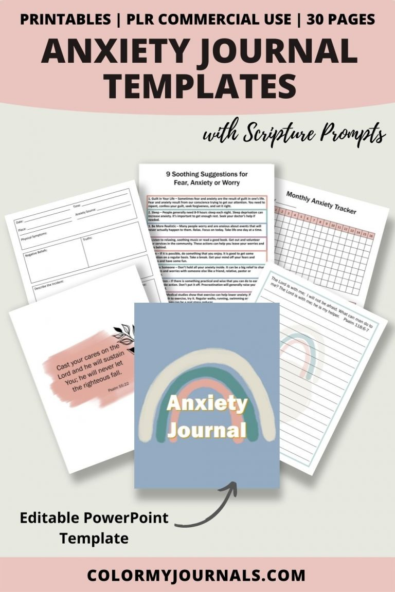 anxiety journal templates with scripture prompts