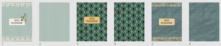 2022 Grecian Gold Book Covers Mockup