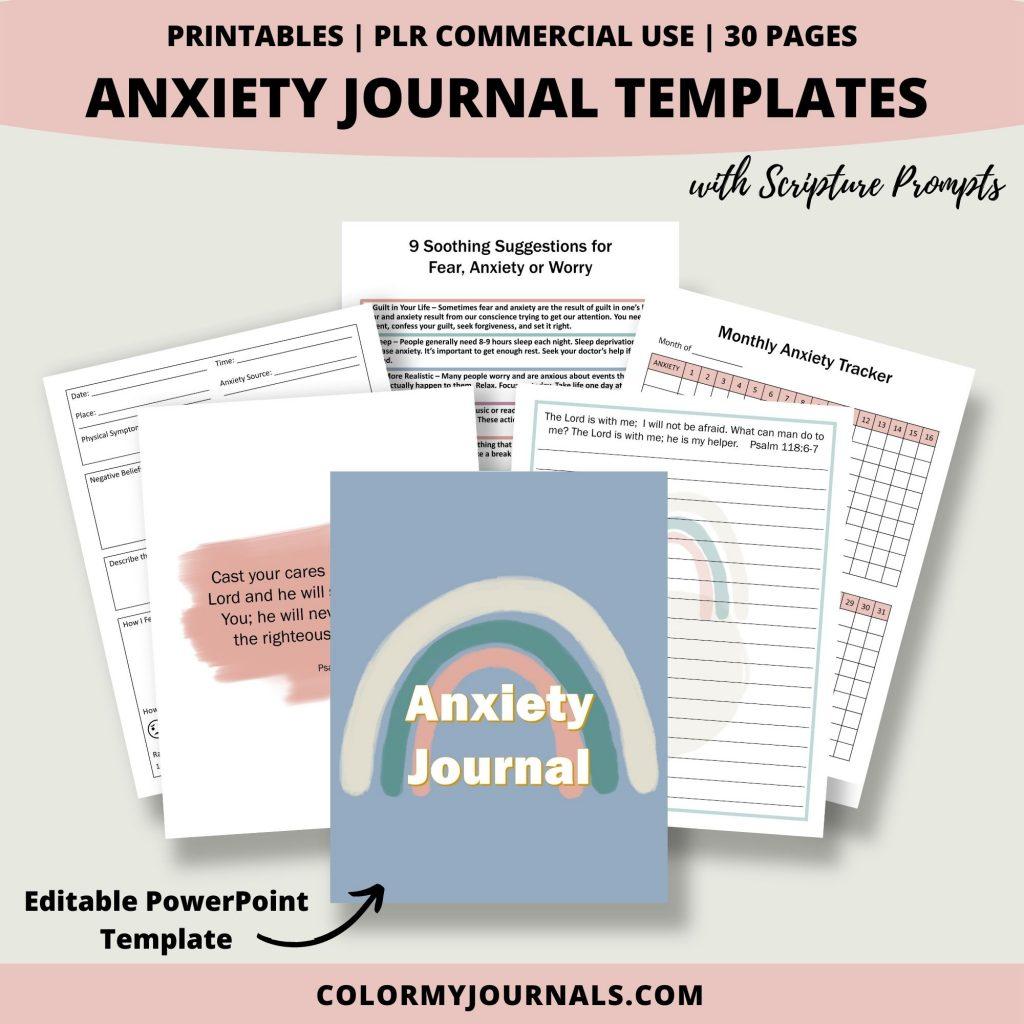 anxiety journal mockup